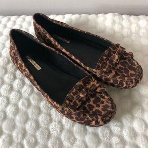 BCBGeneration Cheetah Print Slip On Loafers 6 1/2